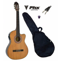 Kit Violão Phx Nl39 Clássico C/afinador + Capa + Acessórios!