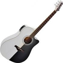 Violão Elétrico Folk C/ Afinador Preto Branco Phoenix Ahd01