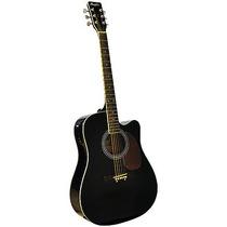 Violão Folk Memphis Aço Cutaway New Md 18 Preto - Com Tensor