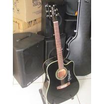 Violão Laçamento Folk Takamine Eg-321 C/afinador Pré Amplif