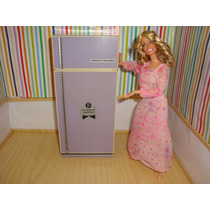 Geladeira Elka Tamanho Barbie Móveis Serve Monster High