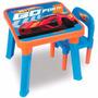 Mesinha Infantil Hot Wheels Com Porta Brinquedo - Fun
