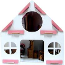 Casinha Infantil Rosa Com Moveis 39 Itens Em Mdf 1530 Carlu
