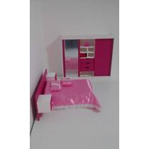 Mini Conjunto De Quarto (exclusivo) Para Barbie (mini Sonho)