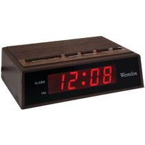 Westclox 22690 .6 Retro Madeira Grão Led Alarme Relógio