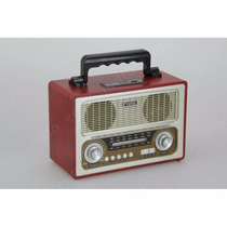 Caixa De Som Retrô Ewtto Com Rádio Am/fm/ Bluetooth