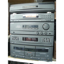 Conjto De Som Sony Lbt-a20 - Td+cd+fm/am+d.deck+2 Cx. Acust.