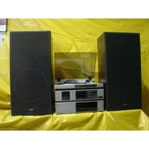 Conjto De Som Akay - Impecavel - T.disco+receiver+deck+cxs