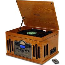 Toca-discos Retro Kansas Com Rádio Am/fm, Cd Mp3, Fita K7,
