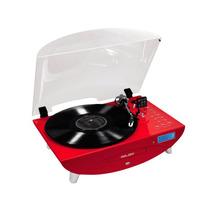 Toca-discos Ctx Melody Rádio Fm Cd Player Entrada Usb Vermel
