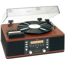Toca Discos Teac Lp-r550 Usb Vintage Madeira C/ Gravador