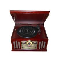 Sistema De Áudio Com Toca-discos ,fm,cd E Cassete Ctx Clasic