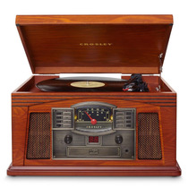 Vitrola Crosley Lancaster Com Cd Player Fita Cassete Rádio