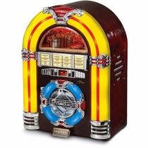 Jukebox Crosley Cd Cherry Cr1101a-ch Com Display Led