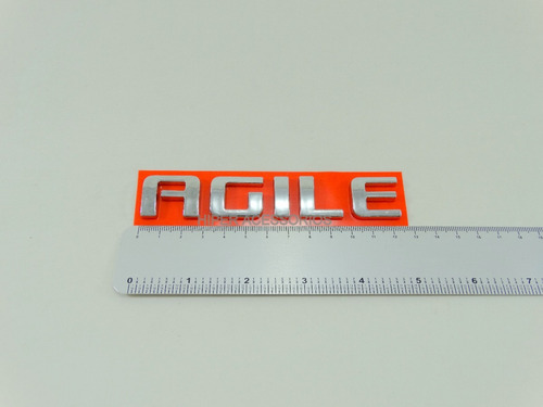 Emblema Agile Cromado