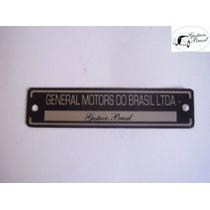 Emblema Tarjeta Cofre Motor Opala Caravan Chevette Chevy 500