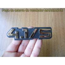Emblema Cromado 4.1/s Para Opala Caravan Diplomata 91 E 92