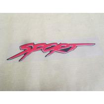 Emblema Porta Sport Pick Up Corsa 2004 Em Diante Original Gm