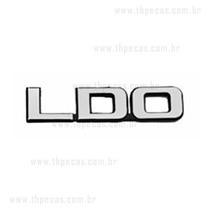 Emblema Adesivo Ldo Do Corcel 78 A 84 Preto C/ Letras Prata