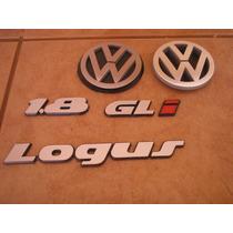 Kit Emblema Logus Cl Ou Gl Ou Gls + I + Logo Vw Mala E Grade