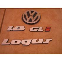 Kit Emblema Logus Cl Ou Gl Ou Gls + I + Simbolo Vw Mala