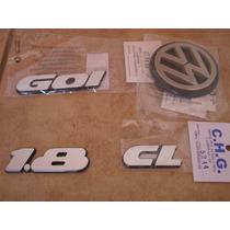 Kit Emblema Gol Cl Ou Gl + 1.8 + Logo Vw Mala Para 91 A 94