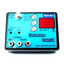 Modulador De Rca Para Rf - Versatil Funciona Canal 01 Ao 99
