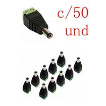 Kit 50 Plug Conector P4 Macho P/ Cftv Camera Borne Kre