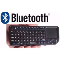 Mini Teclado Bluetooth Touch Pad E Luz P/ Celular Pc Ipad Tv
