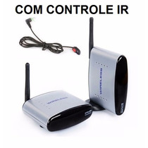 Transmissor Receptor Wireless Áudio Vídeo Tv + Controle Ir