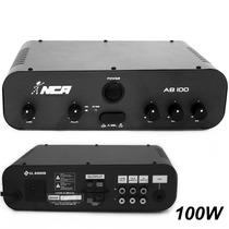 Potência Amplificador Nca - Ab100 R4 - 100w - Frete Gratis*