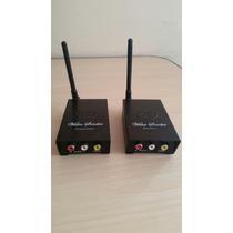 Transmissor E Receptor Sem Fio Wireless Vídeo Áudio Cftv