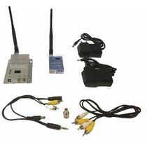 Transmissor E Receptor Sem Fio Video Audio Até 2000m 1.2ghz