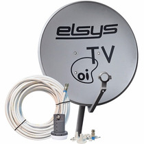 Kit Antena 60cm Oi Tv Kit Ante Banda Ku + Lnb + 20mt De Cab
