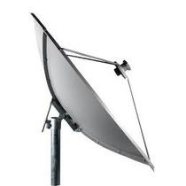 Antena Parabólica 1,50 Mt Banda C Chapa Metálica Sem Logo