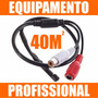 Microfone Amplificado Camera Cftv / Dvr / Nvr / Hvr 40m²