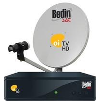 Kit Completo Oi Tv Livre Hd Ses 6 Bedim Com Antena 60cm