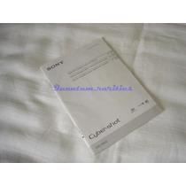 Manual Instruçoes Cd Dsc-w620 Sony Cyber-shot - Usado