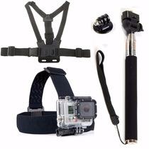 Kit 4 Pçs Acessórios Camera Gopro Hero3 Hero 3 Black Edition