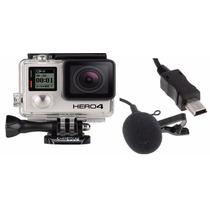 Microfone Completo De Capacete Moto Para Gopro Hero 4 E 3 3+