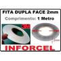 Fita Adesiva 3m Dupla Face 2mm Reparo Touch Lcd (1 Metro)