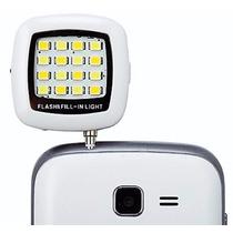 Flash Celular Selfie Universal Frontal 16 Leds Frete Barato