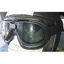 Oculos Old School Moto Custom Vintage Aviador Fumê