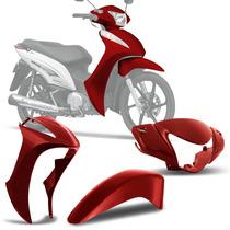 Kit Plástico Carenagem Honda Biz 125 2011 A 2015 Vermelho
