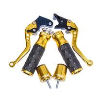 Kit Manetes Manoplas Pesos De Guidão Ironwing Yamaha Xj6 R1