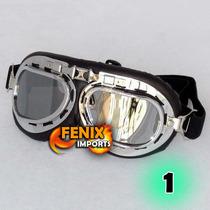 Óculos Goggles Aviador Custom Moto Capacete Helmet 6 Modelos