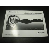 Honda Manual De Proprietário Crf 230f 2008-2013