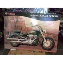 Quadro Moldura Moto Yamaha Wild Star 1600,84 X 59 X 3cm