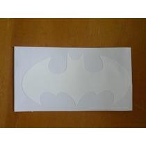 Adesivo Batman Vinil Branco Capacete Moto Varias Cores Moto