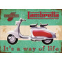 17966- Placa Decorativa Moto Motorcycle Vespa Lambretta